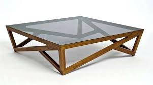 coffee table wood and glass plans cube handmade contemporary furniture oak tables uk