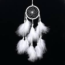 handmade dream catcher net feather wall hanging decoration decor ornament white craft bedroom feather wall hanging