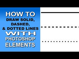 These lines use your current brush as a base. Solid Dashed Dotted Lines With Photoshop Elements Youtube