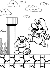 Super Mario Bros Game Coloring Page Boys Coloring Pages Mario