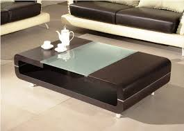 Awesome ... Living Room Coffee Table Best Contemporary Design Low Rectangle Wooden  Lower Shelf Feature Frosted Glass Accents ... Photo Gallery