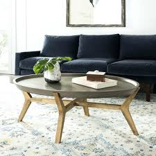 outdoor living modern concrete dark grey coffee table and wood round