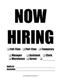 This Printable Now Hiring Sign Can Be Printed And Customized For