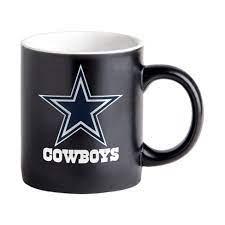 Dallas cowboys coffee mug colors: Nfl Dallas Cowboys Black Matte Mug 14oz Target