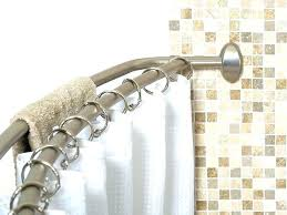 tension curved shower rod tension curved shower rod adjule double curved shower curtain rods to inches