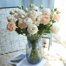 <b>Artificial Fake Western Rose</b> Flower Peony Bridal Bouquet Wedding ...
