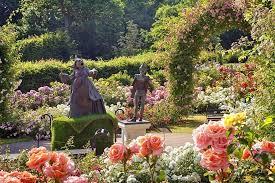 alice in wonderland garden in wonderland sculptures in the jubilee rose garden earlier this summer at alice in wonderland garden