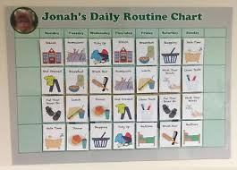 Adhd Morning Routine Chart Kids Daily Routine Chart Personalised Campervan Velcro Boys
