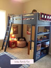 bedroom loft tolen family fun diy twin with storage child xl kid bunk beds childrens