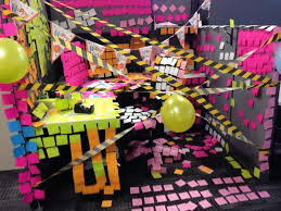 office birthday decoration. brilliant office 20 creative diy cubicle decorating ideas office birthday  in decoration n