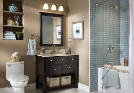 Home Designs : Bathroom Ideas Bathroom Decorating Ideas Color Schemes  Modern Design Colors Designs Dark Small With White Fixtures Towels Cabinets  Brown ...