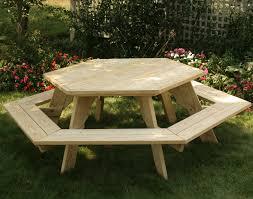 picnic tables treated pine hexagon picnic table xvbyjxq