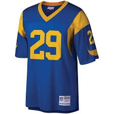 Player Jersey Los Ness Dickerson Legacy Blue Eric Retired Angeles amp; Rams Replica Men's Mitchell