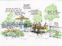 Contemporary Landscape Architecture Blueprints Draws Design Illustration For Architects And Throughout Models