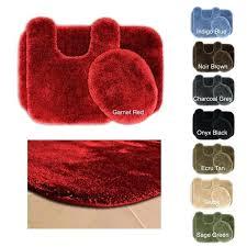 bathroom rugs set posh plush washable 3 piece bath rug free canada