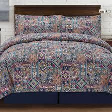 tao jewel tones 4 piece multi colored queen comforter set