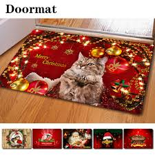 Christmas 3D Persian Cat Printing Multifunction Dedusting Carpets ...