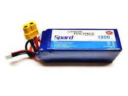 <b>Аккумулятор Spard LiPo Battery</b> 6S1P <b>22.2V</b> 1800mAh 75C XT60 ...