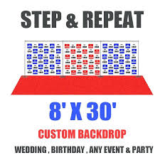Custom Step And Repeat Backdrop Design 1 Logo Basic Banner Template