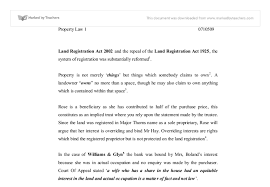 start early and write several drafts about land law essay no such covenant is implied into leases for other types of property this is not an example of the work written by our professional essay writers land law