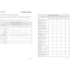 Example Of Management Skills Skills Assessment Form