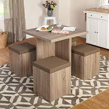 apartment furniture sets. Baxter Dining Set With Storage Ottoman Throughout Apartment Furniture Sets