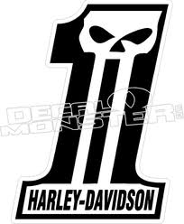 harley davidson punisher 1 decal sticker decalmonster com