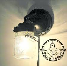 farmhouse wall sconce plug in mason jar light flush mount lighting fixture pendant chandelier track fan