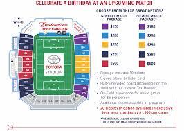 Fc Dallas Seating Chart Birthday Parties Fc Dallas