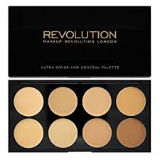 makeup revolution ultra cover and conceal palette light to um