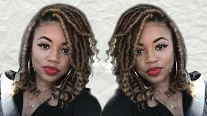 Diy Short Goddess Locs On Medium Length Hair Updated Method