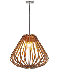 stockholm 1 light squat flair pendant in natural wood