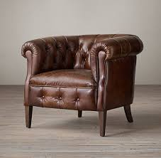 Vintage italian barcelona style dining Tapas 1930s English Tufted Leather Tub Chair Picclick Chairs Rh