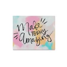 interestprint inspirational quotes make today amazing canvas wall art print painting wall hanging artwork for home decoration on inspirational quote canvas wall art with interestprint inspirational quotes make today amazing canvas wall