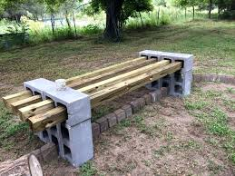 concrete block bench how to build an outdoor kitchen with cinder blocks wooden cinder blocks cinder