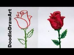 Small Picture Drawing How To Draw a Rose step by step easy lesson for kids