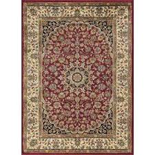 elegance red rug 8x10 solid n