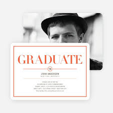 commencement invitations chic but classic