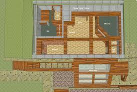 Earth Sheltered Home Plans  Rendering Of The Barrington Floor Earth Shelter Underground Floor Plans