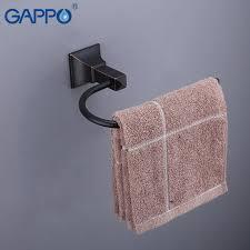 GAPPO Towel Ring black <b>towel holders brass</b> towel ring holder <b>bath</b> ...