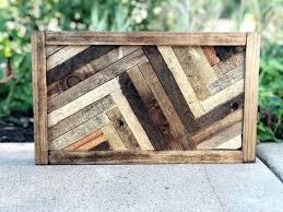 herringbone wood wall art decor
