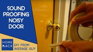 Sound proofing loud noisy door - YouTube