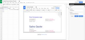 sellmyproducts a painless cpq solution for google sheets preview quote