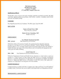 Social Work Resume Skills 100 Social Work Resumes Samples Job Apply Form 60