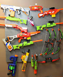 How cool is the nerf gun storage here? How To Build A Nerf Gun Wall With Easy To Follow Instructions