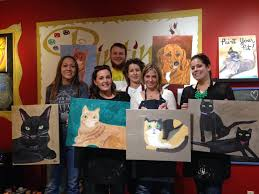 join us at painting with a twist pittsburgh pa west in robinson once you sign up you email a picture of your pet to pwat and they will sketch it for
