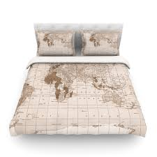 world map duvet cover in