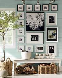 Decorating With Photographs. black and white photos on the wall