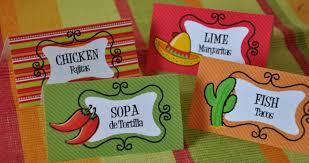 Fiesta Table Decorations Cinco De Mayo Mexican Fiesta Buffet Table Food Cards Pdf