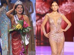 Newly-crowned Miss Universe Andrea Meza helped Miss Peru get into her  evening gown in the middle of the competition